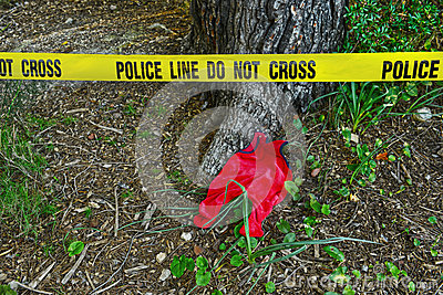 Crime scene: Police line do not cross tape