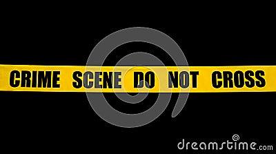 Crime scene police tape