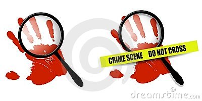 Crime Scene Red Handprints