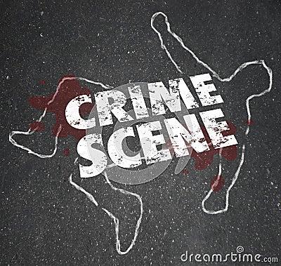 Crime Scene Violent Murder Homicide Forbidden Area Stock Photo