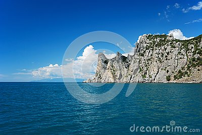 The Crimean landscape with pointed cape
