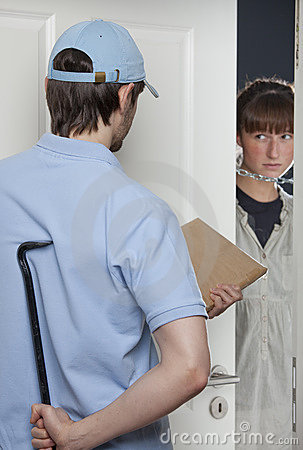 Free Criminal Delivery Man Stock Images - 18442444