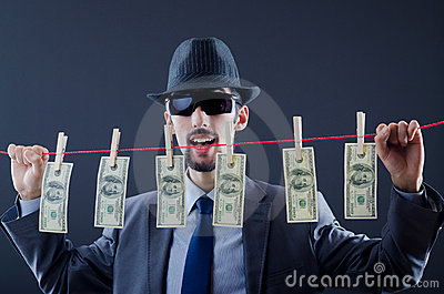 Criminal laundering  money