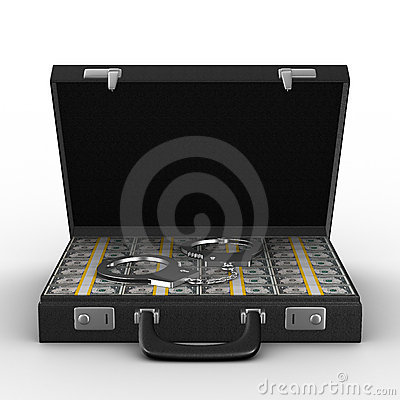 Criminal money in suitcase