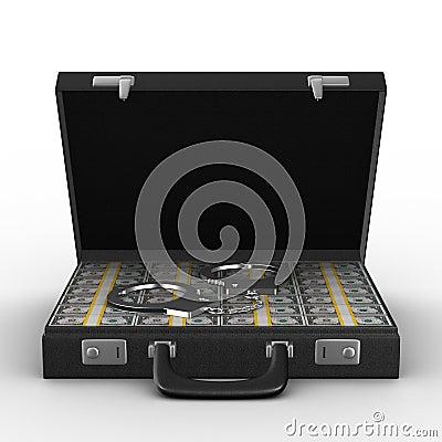 Criminal money in suitcase
