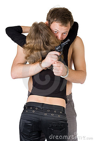 Criminal young man and woman