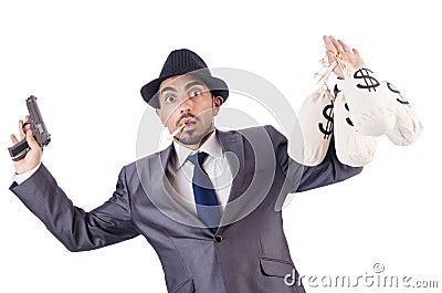Criminoso do homem de negócios