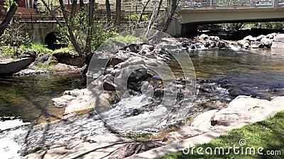 Crique de Boulder au Central Park banque de vidéos