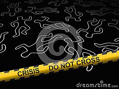 Crisis - crime scene