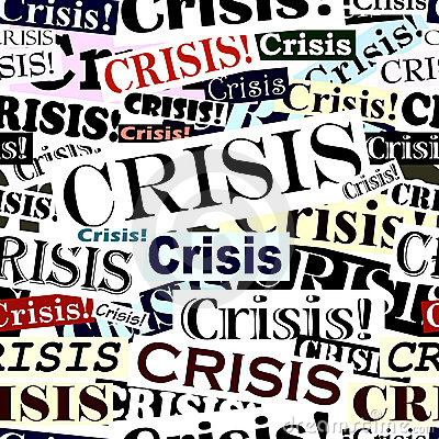 Free Crisis Headlines Tile Stock Photography - 7307872