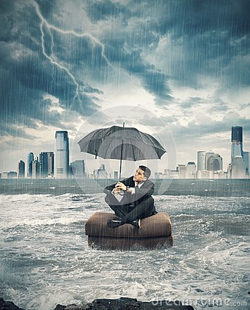 Free Crisis Storm In Business Royalty Free Stock Images - 33023899