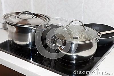 Crisoles en una cocina