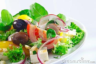 Crisp appetizing Greek salad