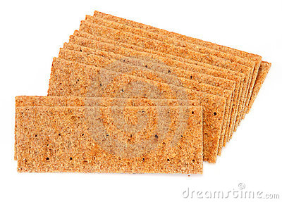 Crisp bread on white