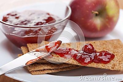 Crispbread with jam