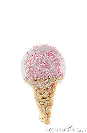 Crispy Cereal Treat Ice Cream Cone Shape