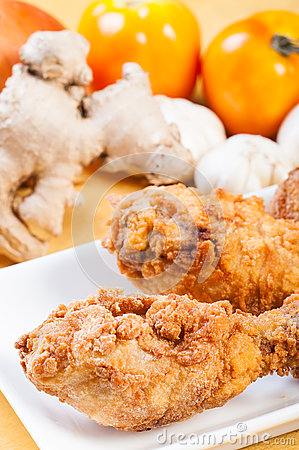 delicious breaded herbed chicken and deep fried in perfection.