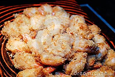 Crispy fried shrimps