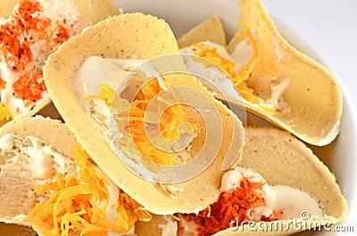 Crispy Pancakes kind of Thai sweetmeat