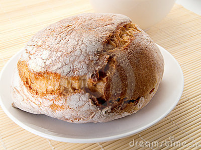 Crispy piece of bread
