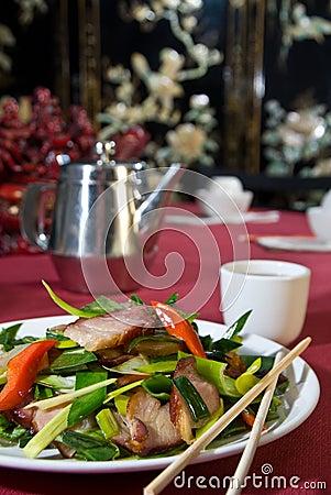 Crispy pork belly salad
