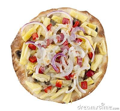 Crispy vegetarian pizza