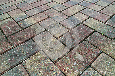 Criss cross brick sidewalk