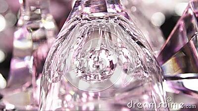 Cristal en color rosa metrajes