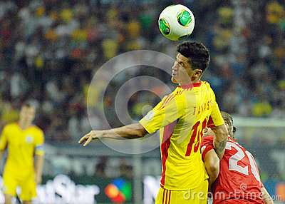 Cristian Tanase in Romania-Turkey World Cup Qualifier Game Editorial Stock Photo
