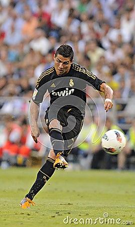 Cristiano Ronaldo free kick Editorial Stock Image