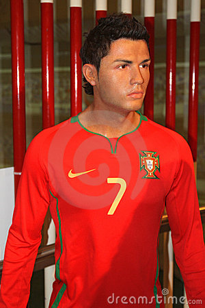 Cristiano Ronaldo at Madame Tussaud s Editorial Photography