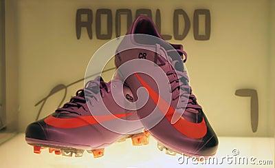 Cristiano Ronaldo s shoes Editorial Stock Photo