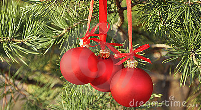 Cristmas decoration red balls