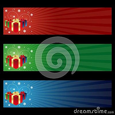 Cristmas gift banners