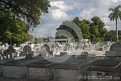 Cristobal Colon Cemetery, Havana, Cuba Editorial Image