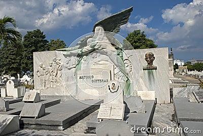 Cristobal Colon Cemetery, Havana, Cuba Editorial Stock Photo