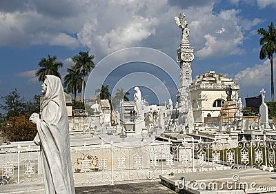 Cristobal Colon Cemetery, Havana, Cuba Editorial Image