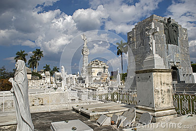 Cristobal Colon Cemetery, Havana, Cuba Editorial Stock Photo
