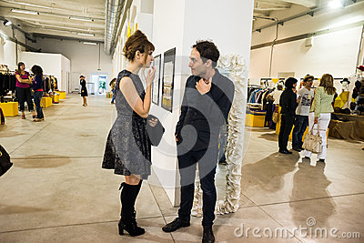 So Critical So Fashion exhibition in Milan on September 20, 2013 Editorial Stock Photo