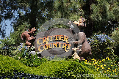 Critter Country at Disneyland Editorial Stock Image