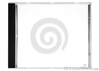 Écriture de labels de disque - cache blanc de disque avec le chemin (vue de face)