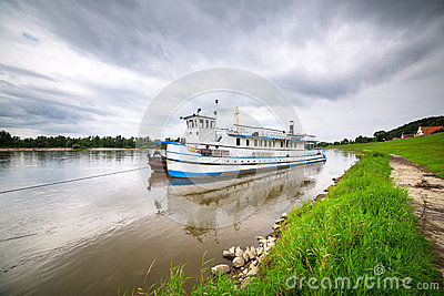 Criuse ship on the Vistula river