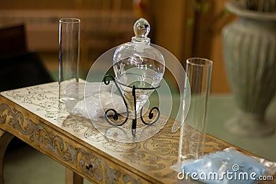 c r monie de sable de mariage avec le vase en verre coeur photo stock image 56779083. Black Bedroom Furniture Sets. Home Design Ideas