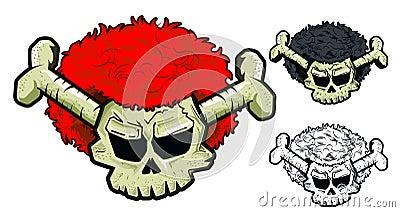 Crâne avec la perruque