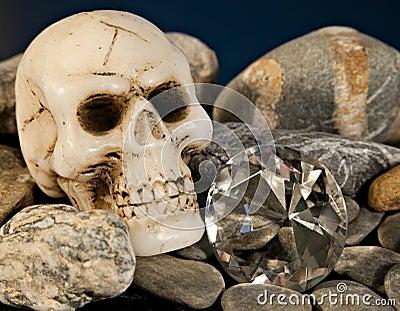 Crâne et diamant