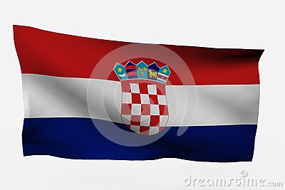 Croatia 3d Flag Royalty Free Stock Images - Image: 7733809