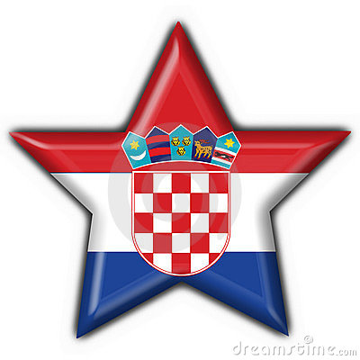 Croatia button flag star shape