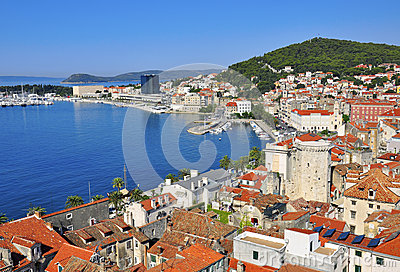 Croatia, city at mediterranean sea