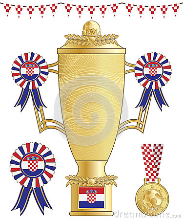 Croatia football trophy