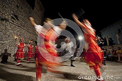 Croatia  - Moresca sward dance Editorial Photo